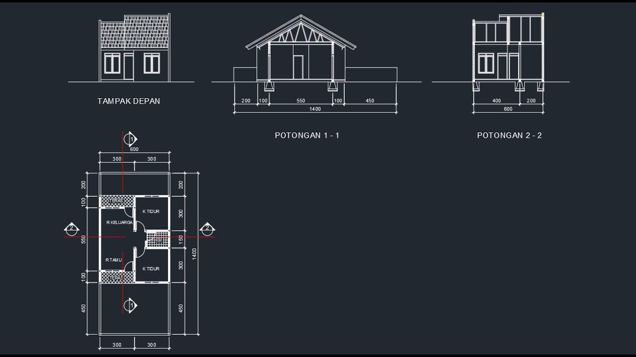 Membangun rumah dengan biaya minim tidak hanya memerlukan desain yang detail. Tutorial Mebuat Desain Rencana Atap Rumah Menggunakan