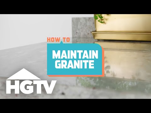 How To Maintain Granite Countertops   How To House   HGTV