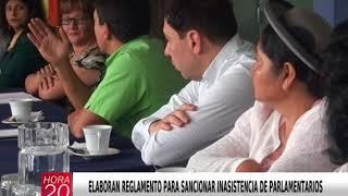ELABORAN REGLAMENTO PARA SANCIONAR INASISTENCIA DE PARLAMENTARIOS