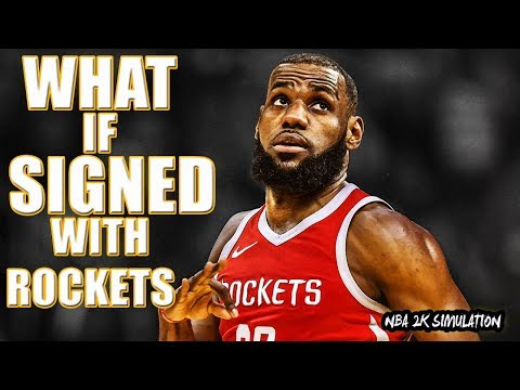 What if Lebron signed with Houston Rockets? NBA 2K18