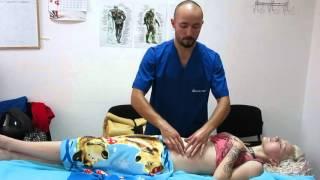 Антицелюлитный массаж живота начало
