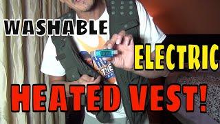 Vinmori Electric Heated Vest Washable Fleece Soft Texture USB Heated Outdoors Fishing Hunting Biking