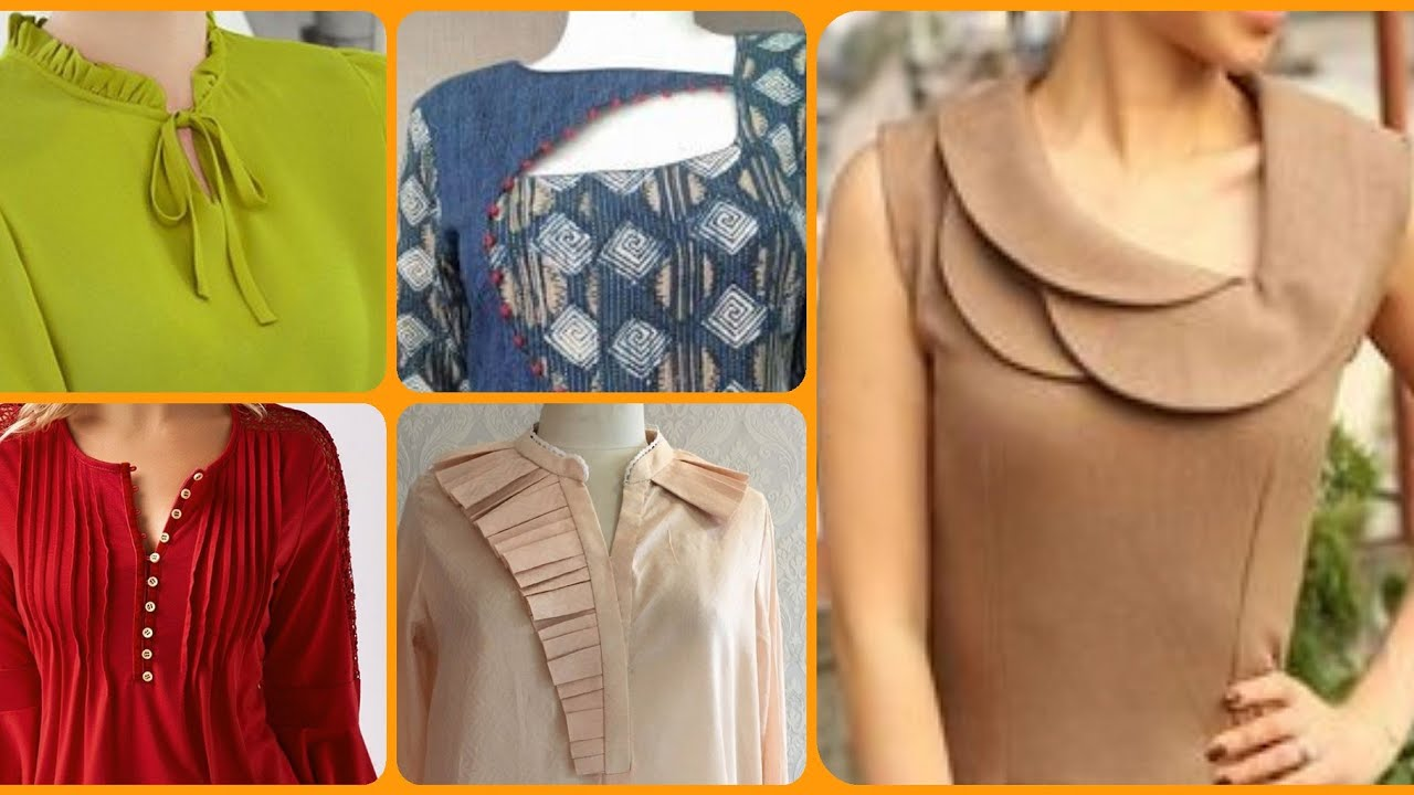Top 40 Stylish Designer Necklines Designs For Casual Dresses In