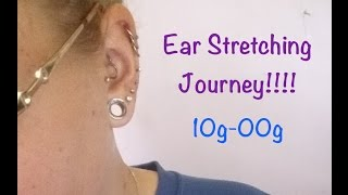my ear stretching journey to a 00g 10mm