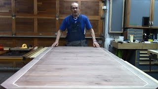 Butterfly Leaf Dining Table 8 - Cutting, Sizing and Framing the top