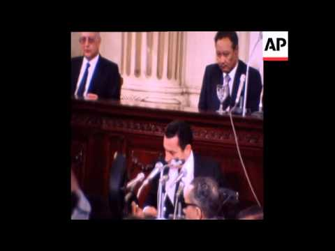 HOSNI MUBARAK IS SWORN IN AS PRESIDENT OF EGYPT