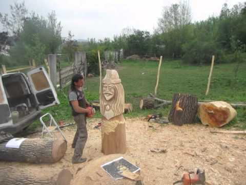 sculpturi cu drujba