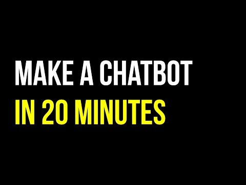 Make A Facebook Chatbot From Scratch In 20 Minutes | BOTS | Quick Code