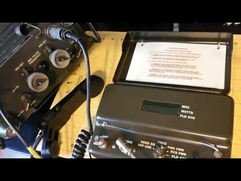 "The ""God Box"" PRM-34 Radio Test Set Demonstration on PRC-77 Backpack Radio"