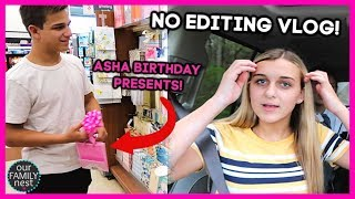 NO EDITING VLOG! MORE SHOPPING FOR ASHA'S BIRTHDAY!