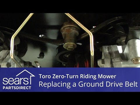 how to replace a toro zero turn riding mower ground drive belt youtube Toro SS4235 Review
