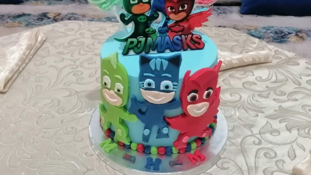 Cake D Anniversaire Desgne Theme Les Pijasasque كيك ديزاين طيم بيجامسك Youtube Diaper Cake Cake Children
