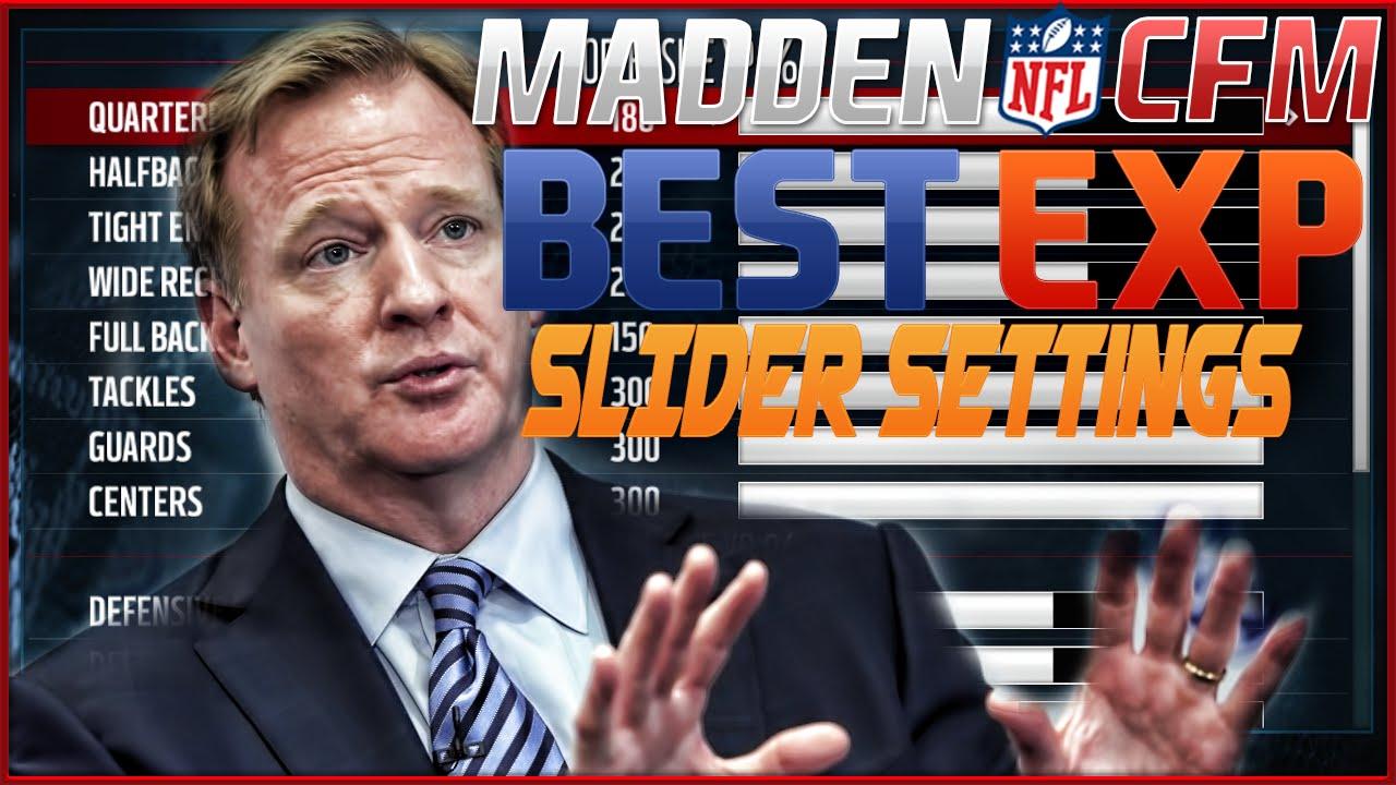 Madden NFL Connected Franchise Best EXP Slider Settings