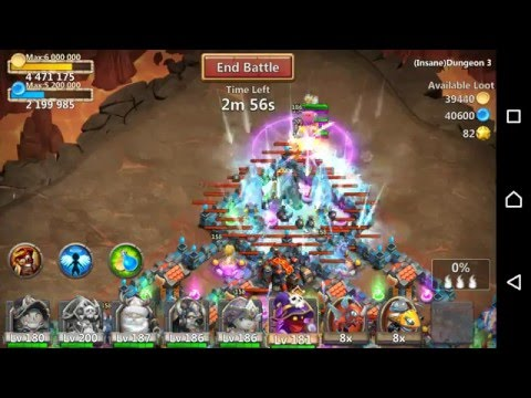Castle Clash Insane Dungeon 3-10 3 Flame