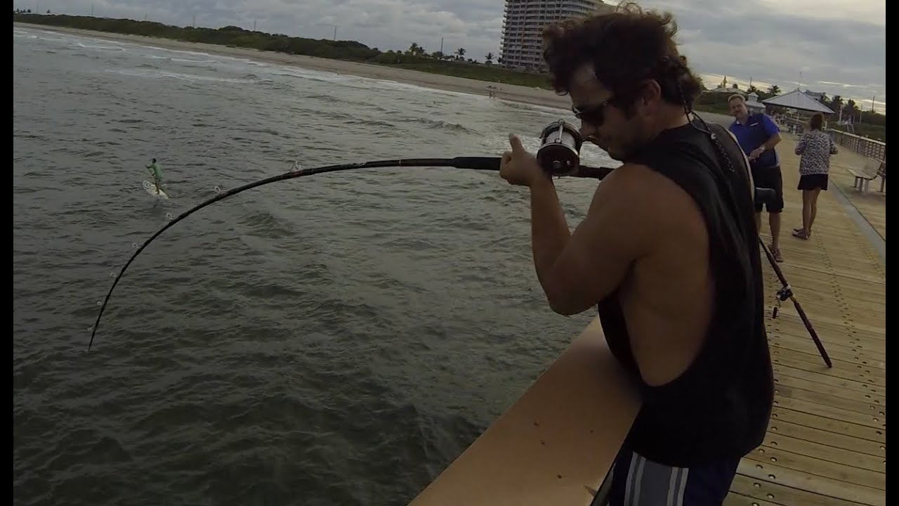 Juno pier snook fishing raw footage youtube for Juno fishing pier