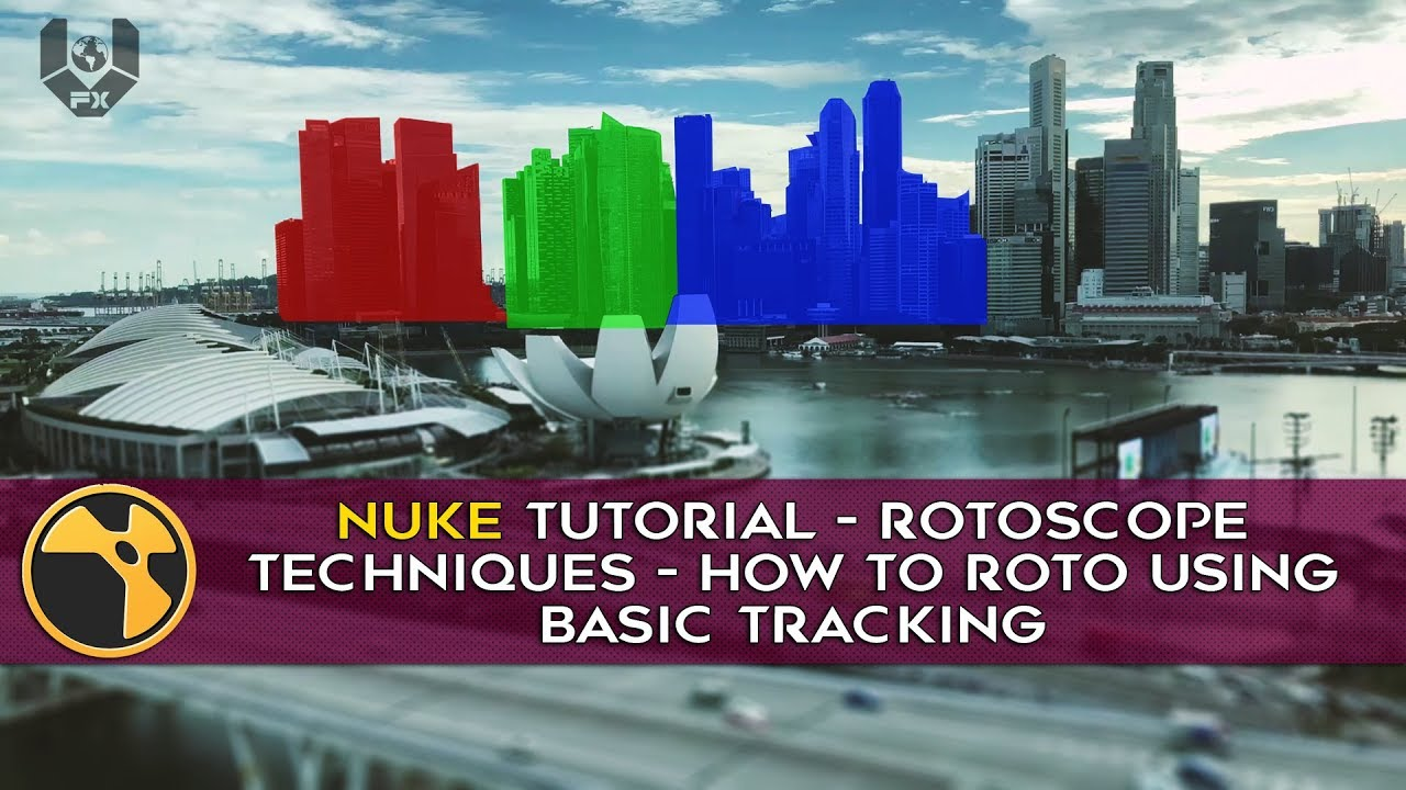 Nuke tutorial - Rotoscope Techniques - How to ROTO using Basic Tracking