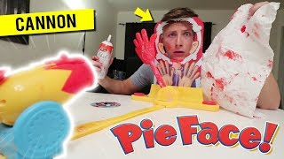 Do Not Play Pie Face CANNON at 3 AM!! *GONE WRONG*