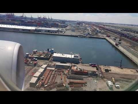 Landing at Newark Airport with New York City ( NYC)  on the side - April 18,2018