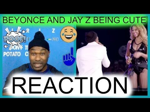 Beyonce and Jay Z being cute-REACTION