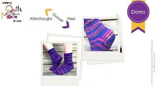 Afterthought Gusset Heel for knitted toe-up or cuff down socks Demo