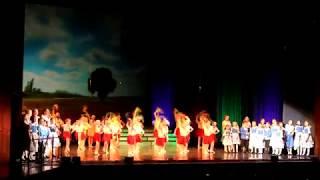 Смотреть видео Студия танца  Акварель  -  Родина Россия онлайн