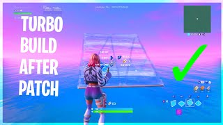How To TURBO BUILD After PATCH v10.20 (FORTNITE BATTLE ROYALE)