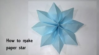 How to make Paper Star || DIY || Easy Paper Craft: Kids craft