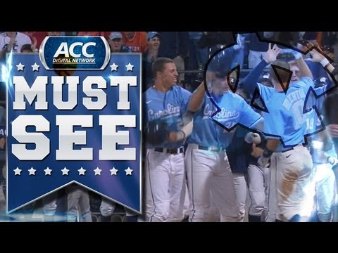 ACC Must See Moment | UNC's Brian Holberton Smashes Game ...