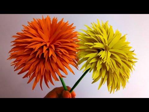How to Make Dandelion Paper Flowers   Easy Flower Making   Handmade Gift Ideas : DIY Paper Crafts