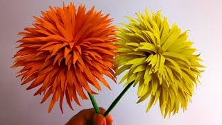 How to Make Dandelion Paper Flowers | Easy Flower Making | Handmade Gift Ideas : DIY Paper Crafts