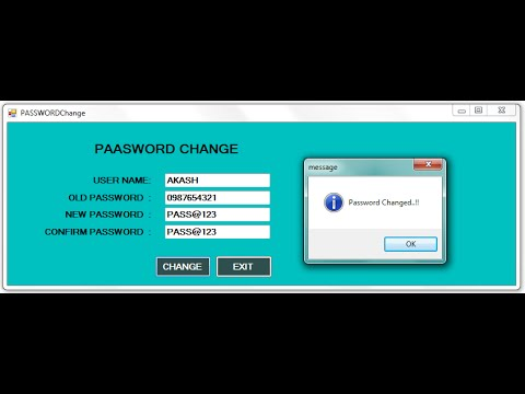 PASSWORD Change option to LOGIN Form in Dot Net