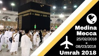 Vlog 19 -  My First Umrah 2018 (Medina, Mecca, Sun Burn & Kebabs!)