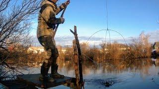 РыбалкА НА ПодЪёмниК ПауК весной.Карась весной.Подъемник своими руками