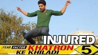 Gurmeet Choudhary INJURED & QUITS  Fear factor Khatron Ke Khiladi 29th March 2014