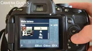 كيفية تعيين توازن اللون الأبيض على نيكون D5100 , D5200, D5300