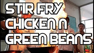 Chicken & Green Beans Stir Fry Recipe - Video Asian Wok French Beans