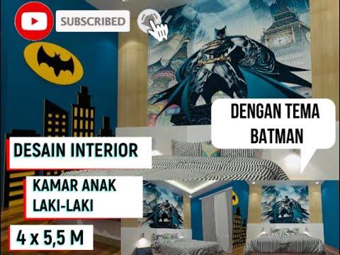 Desain Interior Kamar Anak Laki Laki Dengan Tema Batman Cukup Simple Youtube