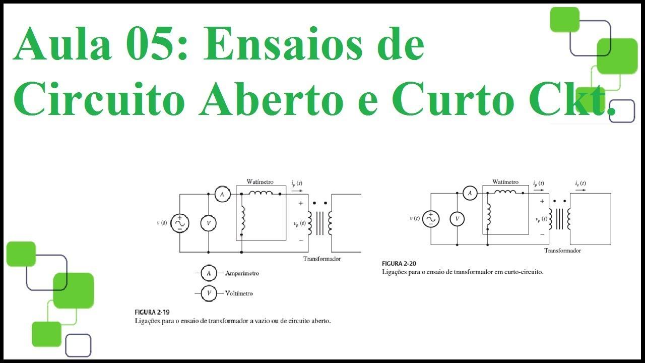 Circuito Aberto : Transformadores 5 7 ensaios de curto e a vazio regulação e