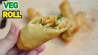 CHINESE VEG SPRING ROLLS by (YES I CAN COOK) #VegRoll #SpringRoll #Snack #Vegan
