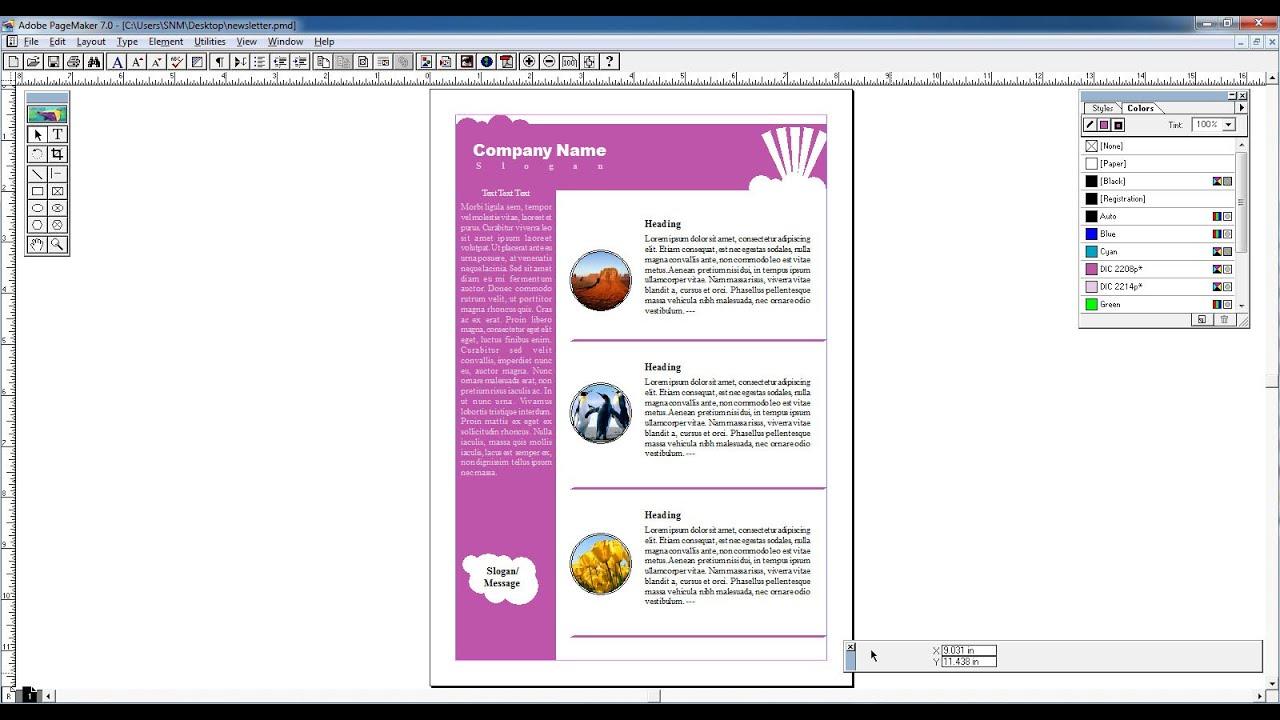 Pagemaker tutorial in hindi creating newsletter youtube baditri Gallery