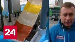 ЧП в Новосибирске: мужчина врезался в застрявшую на водяной горке девушку и повредил ей позвоночник
