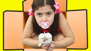 Heloísa em uma historia engraçada da irmã bebê encontrada na caixa