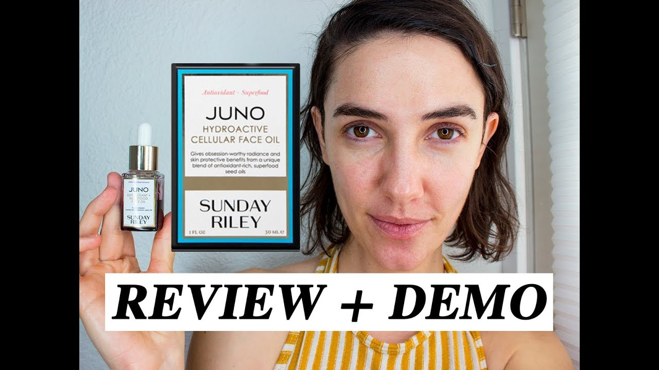 Sunday Riley Juno Face Oil (acne prone skin) | Review + Demo