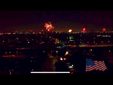 Fireworks 4TH OF July Drone FOOTAGE Orange County