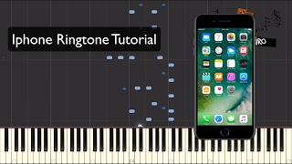 This is the iphone ringtone piano tutorial transcribed by lord vinheteiro. want to play it? download now sheets on my website: http://vinheteiro.com.br/p...
