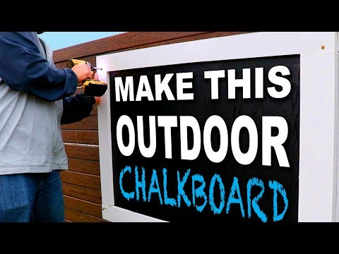 How to Build an Outdoor Chalkboard – Easy Weekend Project – Farmhouse Chalkboard for Kids Play Area