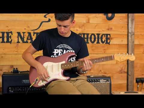 Fender FSR MIJ Hybrid 60s Strat Rosewood Burgundy Mist - YouTube
