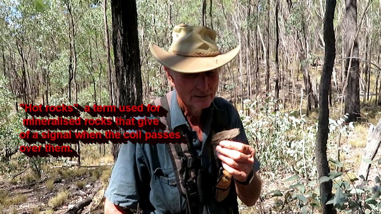 Gold detecting Clermont Queensland  video 1