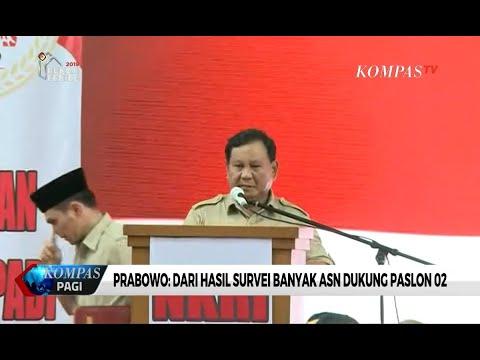 Prabowo: Dari Hasil Survei, Banyak ASN Dukung Paslon 02