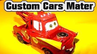 Pixar Cars Primer Mater becomes Radiator Springs Custom Paint Job Mater with Lightning McQueen